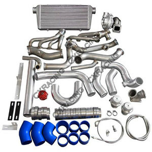 Cx Turbo Header Manifold Intercooler Kit For 79 93 Ford Mustang V8 5 0 Na t T70