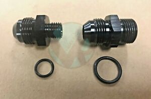 Bosch 044 Fuel Pump Inlet Outlet Fittings Black 8 An 8 E85 Compatible