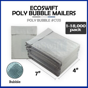 1 18000 0000 4x6 ecoswift Small Poly Bubble Mailer Padded Envelope Bags 4 X 6