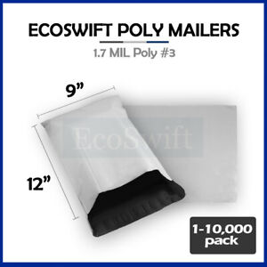1 10000 9 X 12 ecoswift Poly Mailers Envelopes Plastic Shipping Bags 1 70 Mil
