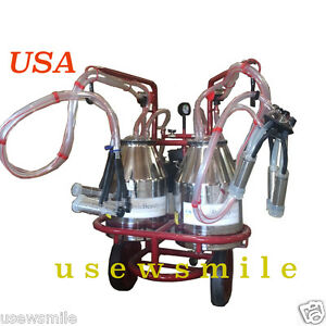 Milking Machine W 1 System X 1 Cow And 1x 2 Goats Simultaneous Inox free Extras