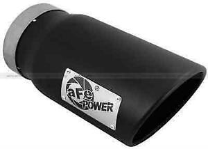 Afe 49t50601 b12 Black Stnlss Steel Bolt on Diesel Exhaust Tip 5 inx6 outx12 l