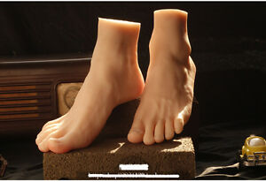 Pair High Quality Silicone Feet Model Male Feet Models Men s Foot Mannequin