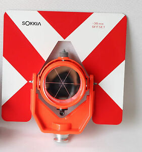 New Sokkia Type Single Prism With Soft Bag For Sokkia Total Station Surveying