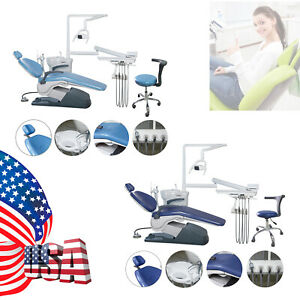 Computer Controlled Dental Unit Chair Hard Leather With Dentist Stool Package A1