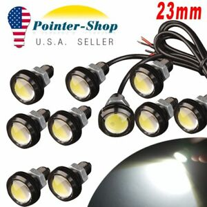 10x Motor Car 9w Led Eagle Eye Daytime Running 23mm 12v White Drl Backup Light