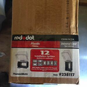New Reddot Lot Of 4 Plastic 1 Gang Electrical Gfci Box Cover 238117 Cknm ngd l