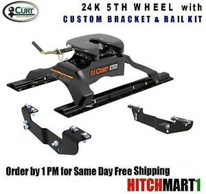 24k Curt 5th Fifth Wheel Trailer Hitch Package Chevy Pickup 16418 16204 16245