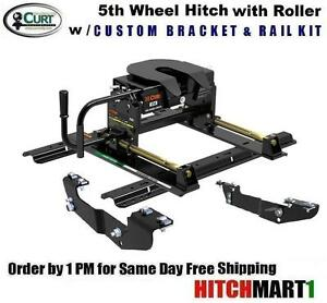 16k Curt E16 5th Fifth Wheel Trailer Hitch Package W Roller 16418 16204 16516