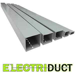 2 X 1 Solid Wall Wire Duct 6 Sticks Total Feet 39ft Gray Electriduct