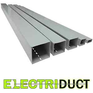 2 X 2 Solid Wall Wire Duct 6 Sticks Total Feet 39ft Gray Electriduct