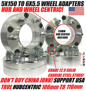 Tundra 5x150 To 6x5 5 Wheel Adapters Hubcentric Comes With Correct 110 To 106cb