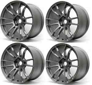 Rays Wgjx40dmg 57xtreme Set Of 4 18x9 5 40mm Offset Matte Graphite 5x100 Rims