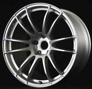 Rays Wgj443ds 57xtreme 19x9 5 43mm Offset Sunlight Silver 5x100 Single Rim