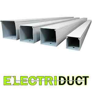 4 x4 Solid Wall Wire Duct 6 Sticks Total Feet 39ft White Electriduct