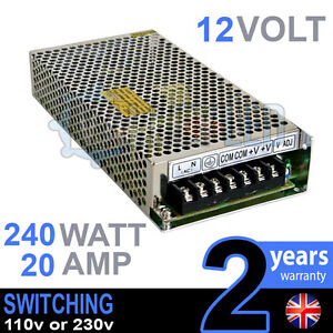 12v Dc 240w 20a 230v 110v Switching Power Supply For Led Strip Driver Cctv