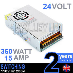 24v Dc 360w 15a 230v 110v Switching Power Supply For Led Strip Driver Cctv