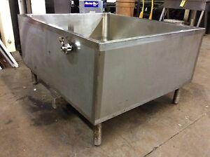 Precision Stainless Co Rectangular Open Top Tank 42 X 35 3 4 X 15 1 4 Deep