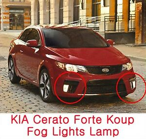 Fog Lights Lamp Assembly Cover Wiring Fits Kia 2010 2013 Cerato Forte Koup