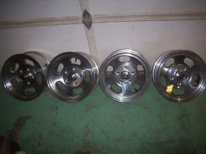 Ansen Sprint 15 X 7 Aluminum Slotted Mag Wheels Set Of 4 New