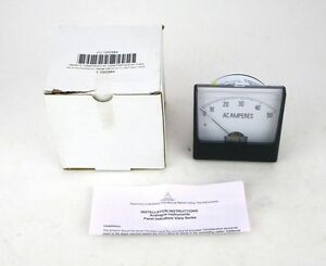 Import Panel Meter 0 50ac A Range Ac Current Analog 1 5 Accuracy 12g384 4c