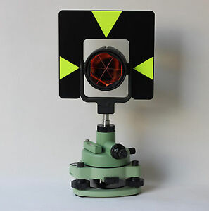 New Metal Green Single Prism Tribrach Set System For Total Station Surveying