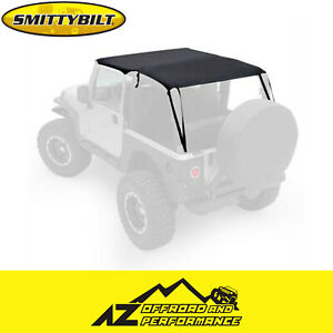 Smittybilt Extended Top Black Diamond For 97 06 Jeep Wrangler Tj 93635