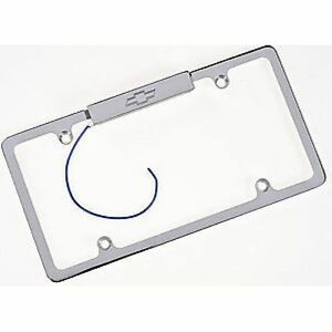 Billet Specialties 55320 License Plate Frame Lighted Bowtie Polished