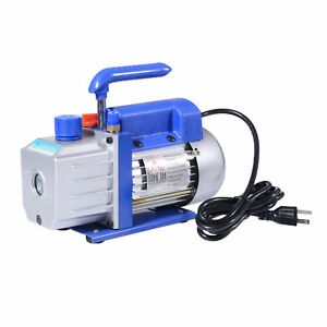New Homcom Single Stage 4cfm 1 3hp 5pa Vacuum Pump Rotary Vane Deep Air Tool