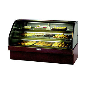 Leader 77 Commercial Refrigerated Marble Curved Bakery Case self contained