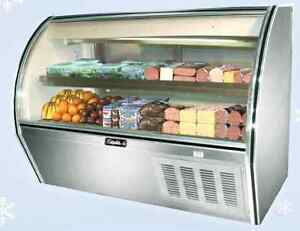 Leader 60 Commercial Curved High Glass Display Deli Case refrigerated