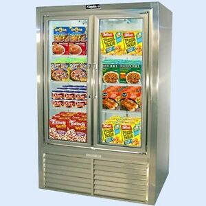 Leader 48 Commercial Freezer Case With Swing Glass Doors self contained