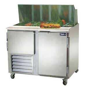 Leader 60 Commercial Bain Marie Sandwich Prep Table Cooler self contained