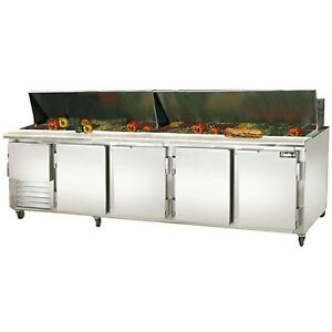 Leader 120 Commercial Bain Marie Sandwich Prep Table Cooler self contained