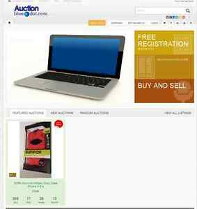 Online Auction Website Business Domain For Sale Auctionbluedot com com