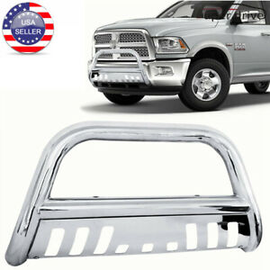 Fits 2009 2019 Dodge Ram 1500 3 Stainless Steel Round Bull Bar Grille Guard