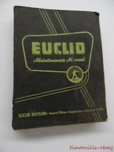1959 Euclid S 18 Ts 18 Ts 25 Tractor Maintenance Manual Vintage Original Big