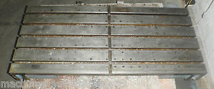 48 75 X 21 50 X 5 Steel Welding T slotted Table Cast Iron Layout Plate T slot
