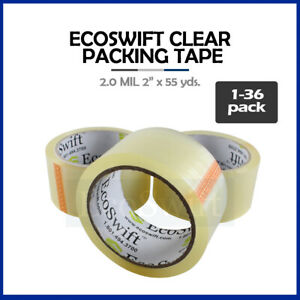 1 36 Roll Ecoswift Packing Packaging Carton Box Tape 2 0mil 2 X 55 Yard 165 Ft