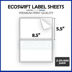 2 20 000 8 5 X 5 5 Ecoswift Shipping Half sheet Self adhesive Ebay Paypal Labels
