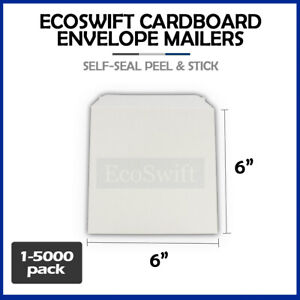 1 5000 6 X 6 Ecoswift Cd dvd Self Seal Photo Ship Flat Cardboard Envelope Mailer