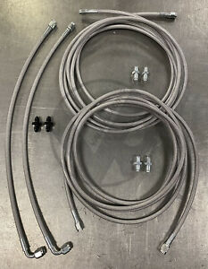 Complete Stainless Rear Brake Line Replacement Kit 96 00 Honda Civic W Rear Drum