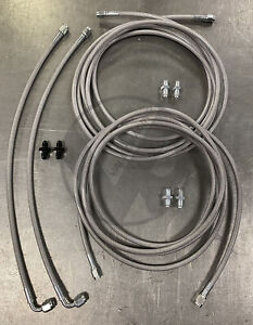 Stainless Rear Brake Line Replacement Kit For 96 00 Honda Civic W Rear Drum