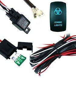 Wiring Harness Kit For Led Work Light Bar Zombie Backlit Rocker Switch 4wd