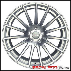 19 Miro Type 110 Silver Concave Staggered Wheels Rims Fits Cadillac Cts