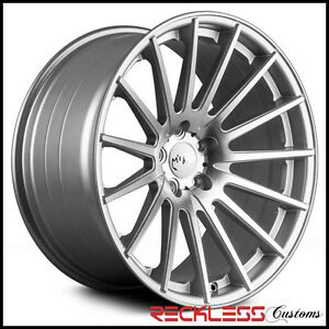 19 Miro Type 110 Silver Concave Staggered Wheels Rims Fits Lexus Ls460