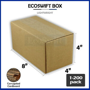 1 200 8x4x4 ecoswift Cardboard Packing Mailing Shipping Corrugated Box Cartons