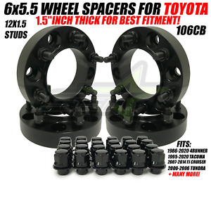 6x5 5 Hub Centric Wheel Spacers For Toyota 4runner Tacoma 1 5 Inch 38mm 6x139 7
