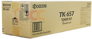 Tk 657 Genuine Kyocera Mita Km 6030 Km 8030 Black Toner Cartridge 1t02fb0us0