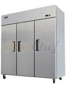 Atosa Commercial Reach In 3 Doors Refrigerator new Mbf8006 2 Year Warranty